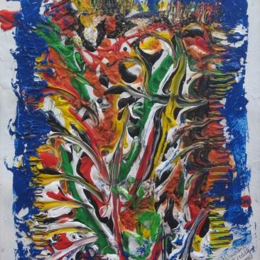 "Cataclysm, 11"" x 14"", $1259"